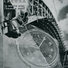 1945 Certina Kurth Freres SA Watch Co Bridge Builders Swiss Print Ad Publicite Suisse Montres