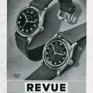 Vintage 1945 Revue Watch Co Revue Sport Thomman SA Swiss Print Ad Publicite Suisse Schweiz