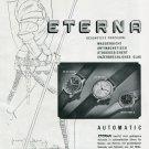 1945 Eterna A.G. Watch Company Switzerland Swiss Print Ad Publicite Suisse Schweiz