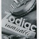 1936 Zodiac Watch Company Original 1930's Swiss Print Ad Publicite Suisse Montres