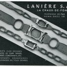 1939 Laniere S.A. Switzerland 1930's Swiss Print Ad Advert Publicite Suisse Horology