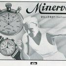 1939 Minerva Watch Company Original 1930's Swiss Print Ad Publicite Suisse Montres Schweiz