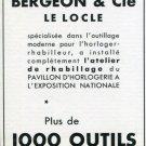 1939 La Maison Bergeon & Cie Le Locle Switzerland Swiss Print Ad Publicite Suisse Schweiz
