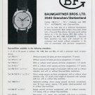1969 Baumgartner Brothers Watch Company BFG Grenchen Switzerland Swiss Print Ad Publicite Suisse