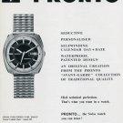 1969 Pronto L. Maitre & Fils S.A. Watch Company Swiss Print Ad Suisse Publicite Pronto Scopic