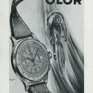 Vintage 1950 Olor Watch SA La Chaux-de-Fonds Switzerland Swiss Print Ad Publicite Suisse Montres