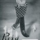 Vintage 1950 Prexa The Self Going Watch Original Swiss Print Ad Publicite Suisse Montres Switzerland