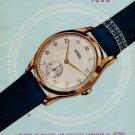 Original 1950 Technos Watch Company 50th Anniversary Swiss Print Ad Publicite Suisse Switzerland