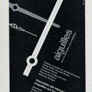 Vintage 1967 Aiguilles Aiguilla SA Swiss Print Ad Publicite Suisse Horlogerie Horology
