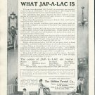 Original 1905 Glidden Varnish Company Cleveland Ohio Jap-A-Lac Early 1900's Magazine Ad Advert
