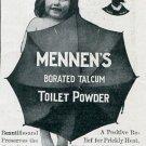 Original 1905 Gerhard Mennen Co Newark Talcum Toilet Powder Early 1900's Magazine Ad