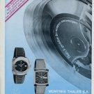 Montres Thales SA Watch Company France 1975 French Ad Advert Publicite Cofram