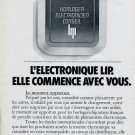 Lip Horloger Electronicien Conseil Lip 1975 French Ad Advert Publicite Montres