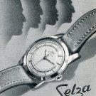 Selza Watch Company Switzerland Vintage 1956 Swiss Print Ad Suisse Publicite