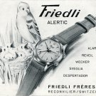 Friedli Freres SA Watch Company Switzerland Vintage 1956 Swiss Print Ad Suisse Publicite Montres