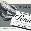 Publicite Nivaflex Sonia Ressorts de Montres D'Emile Schweingruber 1956 Swiss Ad Advert Suisse