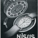 Nisus S.A. Watch Co Bienne Switzerland Original 1947 Swiss Print Ad Advert Publicite Suisse Montres