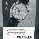 Pontifa Watch Company Marc Leuthold Switzerland 1956 Swiss Print Ad Advert Publicite Suisse Montres