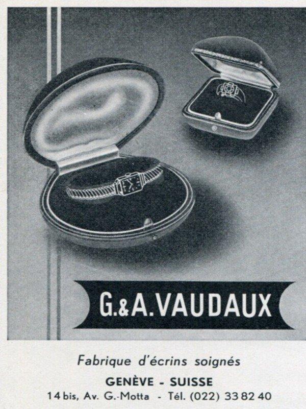 G & A Vaudaux Switzerland Vintage 1956 Swiss Print Ad Suisse Publicite Horlogerie Horology