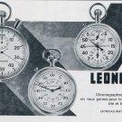 Vintage 1964 Leonidas Watch Company St-Imier Switzerland Swiss Print Ad Publicite Suisse Montres