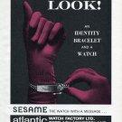 Vintage 1965 Atlantic Watch Co Bettlach Switzerland Swiss Print Ad Publicite Suisse Atlantic Sesame