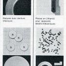 Vintage 1969 Universo SA Switzerland Swiss Print Ad Publicite Suisse Horlogerie Horology