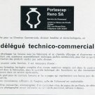 Vintage 1969 Portescap Reno SA Switzerland Employment Advert Publicite Suisse Swiss Print Ad