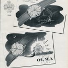 1956 Olma Watch Company Numa Jeanin SA Switzerland Vintage Swiss Print Ad Publicite Suisse Montres
