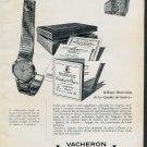 1956 Vacheron Constantin Chronometre Royal Watch Advert Publicite Suisse Montres Swiss Print Ad