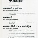 Zodiac Watch Company 1969 Employment Advertisement Publicite Suisse Swiss Print Ad