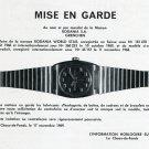 Rodania SA Mise en Garde Publicite Suisse 1969 Swiss Print Ad Rodania World Star Watch Advert