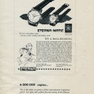 Vintage 1953 Eterna Watch Co Switzerland Swiss Print Ad Publicite Suisse Eterna Matic Watch Advert