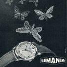 Vintage1953 Lemania Lugrin SA Watch Company Swiss Print Ad Publicite Suisse Montres