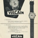 Vintage 1953 Vulcain Watch Co Swiss Print Ad Publicite Suisse Montres Vulcain Cricket Watch Advert