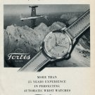 Vintage 1953 Fortis SA Watch Co Split of the Second That Counts Swiss Ad Publicite Suisse Montres