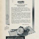 Vintage 1953 Jaeger-LeCoultre Swiss Print Ad Publicite Suisse Montres SR-497 Watch Advert