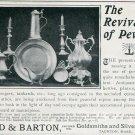 1905 Reed & Barton Goldsmiths Silversmiths Taunton MA Massachusetts Early 1900's Magazine Ad Advert