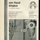 Vintage 1947 Plica-Rohre Rohrautomaten Kopex AG Swiss Print Ad Publicite Suisse Schweiz
