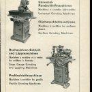Vintage 1947 Fritz Studer Grinding Machine Co Swiss Print Ad Publicite Suisse Schweiz