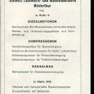 Vintage 1947 SLM Schweiz Lokomotiv und Maschinenfabrik Swiss Print Ad Publicite Suisse