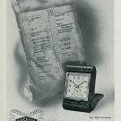 Vintage 1947 Angelus Clock Company Pendulettes Reveils Publicite Advert Swiss Magazine Ad