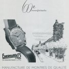 Vintage 1947 Eberhard & Co Watch Company 60th Anniversary Swiss Ad Advert Publicite Suisse Montres