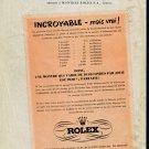 1947 Rolex Watch Company Ce que le public devrait savoir 1940s Swiss Print Ad