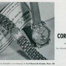 Vintage 1945 Cortebert Watch Co Switzerland Swiss Print Ad Suisse Publicite Montres Schweiz Suiza