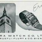 Vintage 1945 Era Watch Co C Ruefli-Flury & Co Switzerland Swiss Print Ad Suisse Publicite Montres