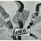 Vintage 1945 Lanco Langendorf Watch Co Switzerland Swiss Print Ad Suisse Publicite Montres Schweiz
