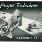 Vintage 1945 Parechoc SA Le Sentier Switzerland Swiss Print Ad Suisse Publicite Hologerie Horology