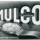 Vintage 1945 Mulco Watch Company Switzerland Swiss Print Ad Suisse Publicite Montres Schweiz Suiza