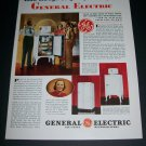 Vintage 1936 General Electric All Steel Refrigerator Original 1930s Print Ad Publicite Advert GE