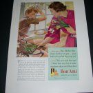 Vintage 1936 Bon Ami Cleanser Polishes As It Cleans Original 1930s Print Ad Publicite Advert